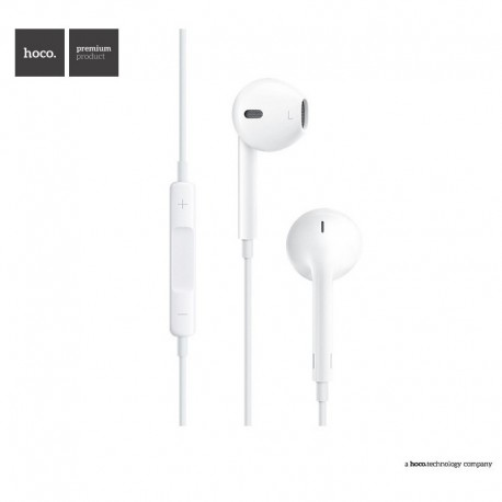 HOCO M1 Apple series Earphone - Biely