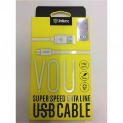 INKAX CK-13 Micro USB 1M Dátový kábel - Biele