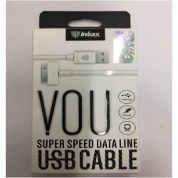 INKAX CK-13 iPhone 4 1M Dátový kábel - Biely