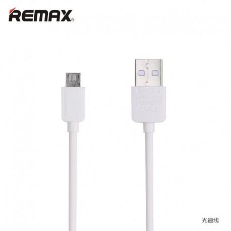 REMAX Light Micro USB 1M kábel - Biely