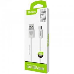 INKAX CK-51 USB Type-C 1M Dátový kábel - Biele