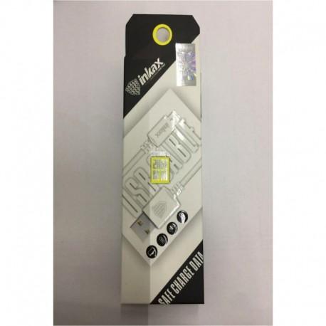 INKAX CK-08 Micro USB 2M Dátový kábel - Biele