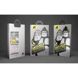 Apple iPhone 7/8 TG 3D Anti-Peep Ochranné sklo - Čierne