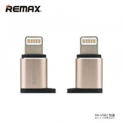 REMAX RA-USB2 Micro USB - Apple 8PIN Adapter - Zlatý