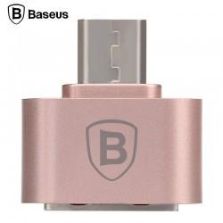 Baseus OTG/Micro USB redukcia - Rose Gold