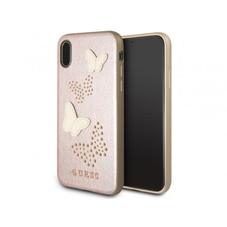 GUESS IriDescent TPU púzdro - rosegold (ružovo-zlaté) pre Iphone X/Xs