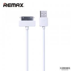 REMAX iPhone 4 Light 1M kábel - Biele