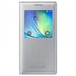 Samsung A5 S View Cover Knižkové puzdro - Strieborné